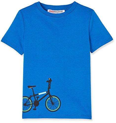 RED WAGON Jungen T-Shirt mit Fahrrad-Print, Blau (Blue), 104 (Herstellergröße: 4 Jahre)