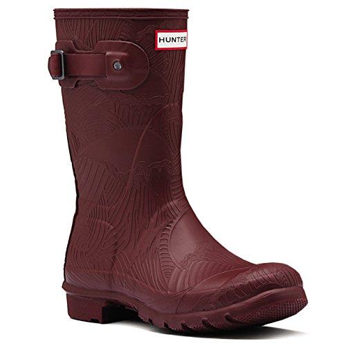 Hunter Damen Original Short Wave Textured Schnee Winter Regen Stiefel EU 36-43 (Hunter Frauen Kurze Regen Stiefel)