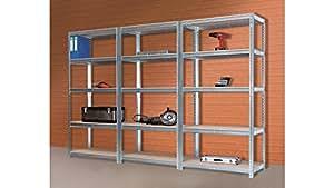 SZ étagère pour charges lourdes en métal» à «60 cm x 220 cm x 90 cm