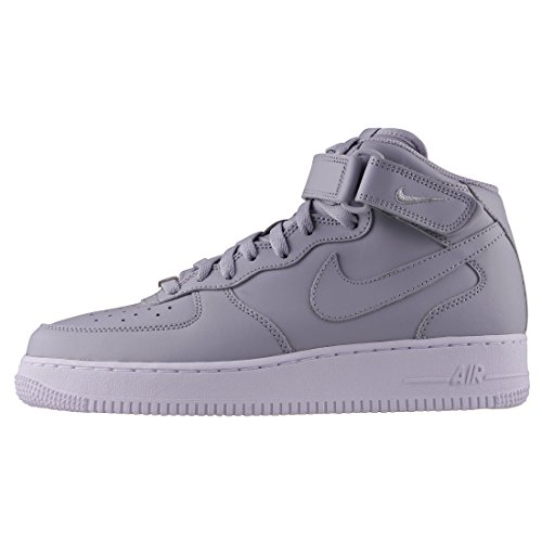 Nike Air Force 1 Mid 07, Zapatilla A Collo Alto Uomo Grigio (wolf Gray / Wolf Gray White 046)