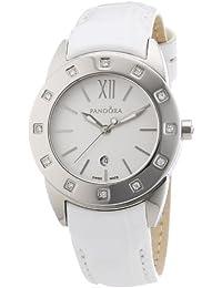 Pandora 811011WH - Reloj analógico de mujer de cuarzo con correa de piel blanca