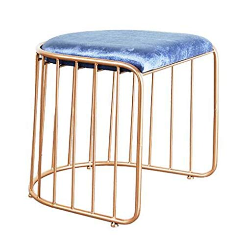 DULPLAY 100% Metal Zähler höhe hocker,Esszimmer stühle Creativs Sitz rückenlehne Industrielle Moderne Küche esszimmer Bar-stühlen Rustikale Kupfer-A 45x45x50cm(18x18x20) - Zähler Höhe Stühle Hocker