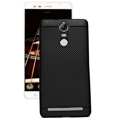 4 GADGETS lenovo-k5 note 360* Protection Premium Dotted Designed Soft Back Case Cover(black)