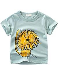 8e42737de León Camisetas Niño Animal Print Divertida Ropa Verde