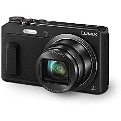 Panasonic Lumix Appareil Photo Compact Zoom Puissant DMC-TZ57EF-K (Capteur 16MP, Zoom Lumix 20x F3.3-6.4, Ecran Inclinable, Vidéo Full HD, Modes Selfies, Stabilisé) Noir - Version Française