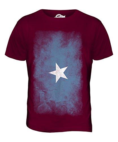 CandyMix Somalia Verblichen Flagge Herren T Shirt Burgunderrot