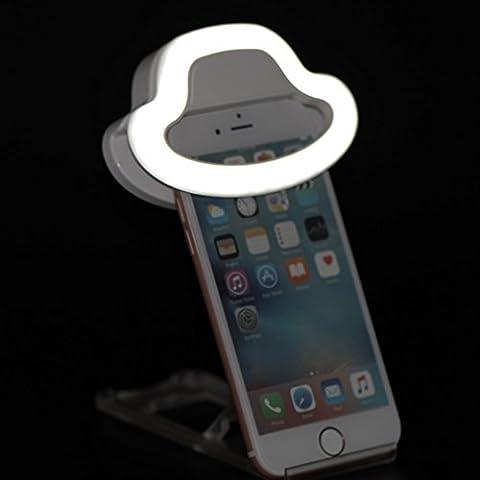 bidafun LED Foco Flash Selfie Anillo de luz cámara foto Vídeo lámpara de luz para teléfono móvil