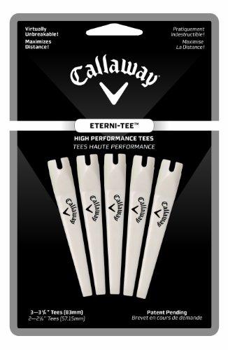 Callaway Eterni Golf Tee (Lot de 5)–Blanc, L
