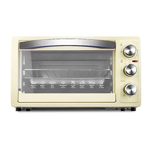 JCOCO Four mini 30L avec réglage de la température 0-230℃ et 0-60 min minuterie, four de 1050 W en verre à trois couches pour porte