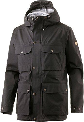 Fjällräven Herren Övik Eco-Shell Jacket Hardshelljacke, Black, M