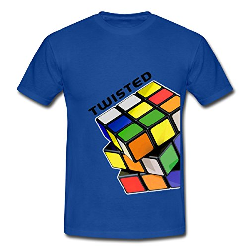 Spreadshirt Rubik's Cube Zauberwürfel Twisted Männer T-Shirt, L, Royalblau (80er-jahre-spiele-t-shirts)