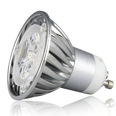 LE dimmbar 4 Watt GU10 LED Lampe, entspricht einer 35W Halogenlampe, Einbauleuchten, kaltweiß, LED-Spotlight, LED-Scheinwerfer von Lighting EVER auf Lampenhans.de