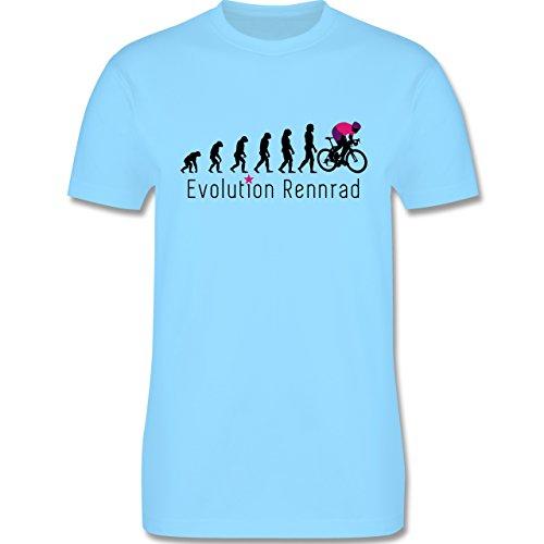 Radsport - Rennrad Evolution - Herren Premium T-Shirt Hellblau