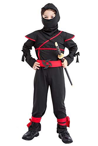 Krieger Kinder Ninja Kostüm - Fortunezone Kinder Ninja Kostüm Krieger Jungen Kostüm Fasching Karneval Verkleiden M
