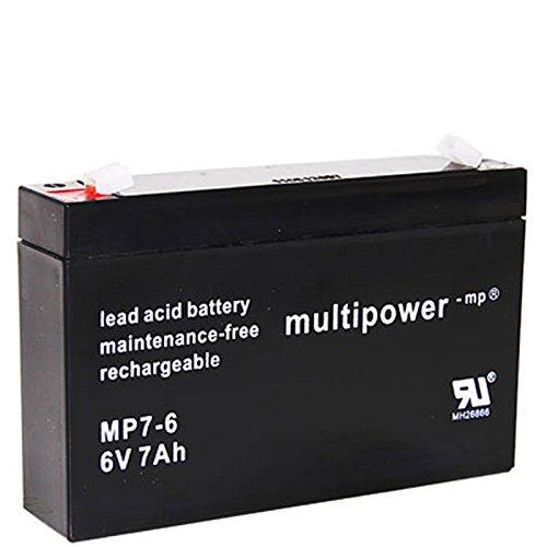 Multipower MP7-6 Blei Akku 6 Volt, 7000mAh mit Faston 4,8mm