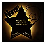 Schlummerlicht24 Led Nachtlicht Baby-Lampe Teddy Stern Baby-Geschenke zur Taufe mit Namen Tauf-spruch Gravur personalisiert Geburt-sgeschenke Taufgeschenke für Junge-n Mädchen Paten-Kind Mutter Zimmer - 3