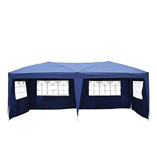 Outsunny® Faltpavillon Pavillon Faltzelt Partyzelt Gartenzelt 3x6m Blau NEU