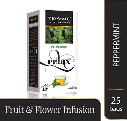 TE-A-ME Peppermint Infusion Tea Bags, Pack of 25