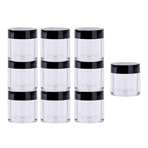 La Cabina 10 pcs Boîte de Rangement pour Nail Art Paillettes Strass Perles Stockage Bouteille