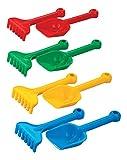 Sandset kleine Schaufel+Harke Strandset Strandspielzeug Sandspielzeug Spielzeug Kinder Kinderspielzeug Schaufel Sandkasten Strand Sand Sandkasten