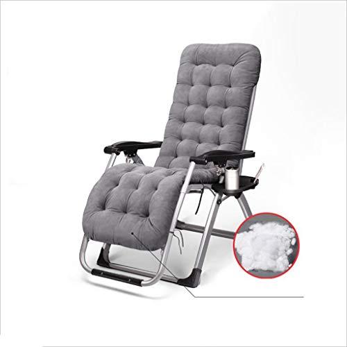 WYYY Bürostuhl Garten Liegestühle Eisenrohr+Stoff+Baumwollmatte Multifunktion Chaiselongue Liegestuhl Textoline Multi-Winkelverstellung Zusammenklappbar Kopfstütze 2 Farben Durable stark -