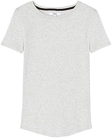 FIND Damen T-Shirt Round Neck Grau (Heather Light Grey), 38 (Herstellergröße: Medium)