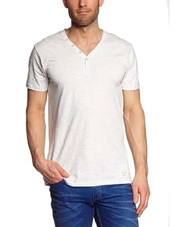 ESPRIT Herren T-Shirt Slim Fit 043EE2K012, Gr. 47 (3XL), Weiß (116 white melange)
