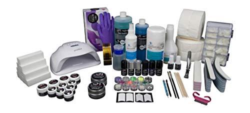 SN Nageldesign Gelnägel Set Starterset, Nagelstudio Set komplett mit UV LED Lampe, Gel, Farbgel und viel Nagel Zubehör B3