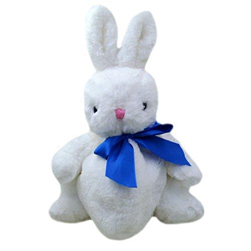 Milya Plüschtier Hase Hase Sitzend weiß mit Umhängetasche aus Plüsch super süß Umhängetasche