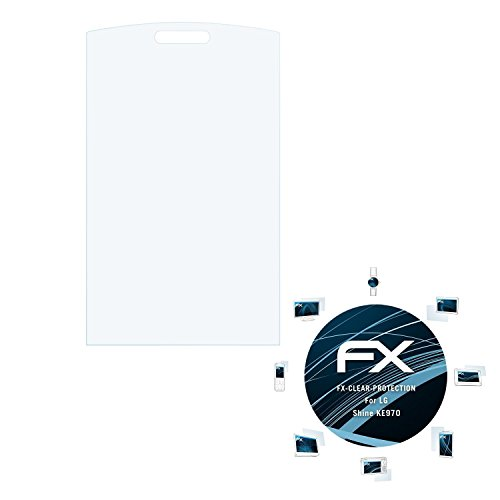 atFolix Schutzfolie kompatibel mit LG Shine KE970 Folie, ultraklare FX Displayschutzfolie (3X)