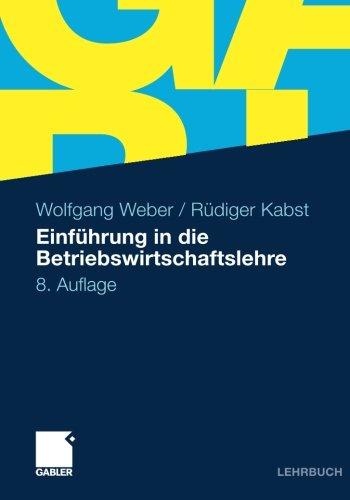 Gabler Verlag Einführung in die Betriebswirtschaftslehre