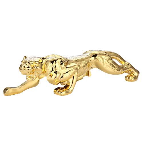 WDDqzf Skulptur Figur Dekoration Statuen Auto Parfüm Aromatherapie Auto Auto Parfüm Metall Diamant Geld Leopard Auto Innendekoration Ornamente (Das Cast Weihnachts-ornament)