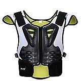JohnJohnsen Kinder Reflective Skating Skifahren Extremsport Protektoren Kinderkrankenpflege Rücken Brust und Wirbelsäule Sport Schutz (gelb und weiß)