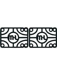"""Mini Logo 1/2"""" Risers Single Set Black by Mini-Logo"""