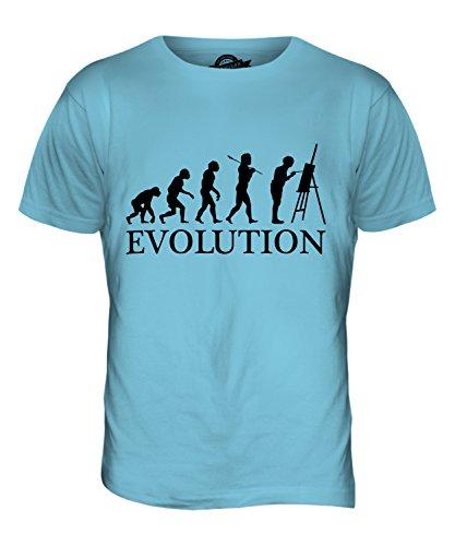 CandyMix Künstler Malerei Evolution Des Menschen Herren T Shirt Himmelblau