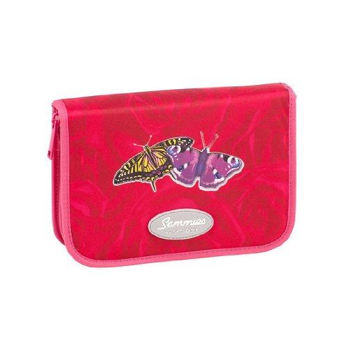 Hama Sammies by Samsonite Optilight-Federmäppchen Pink Butterfly komplett mit Inhalt