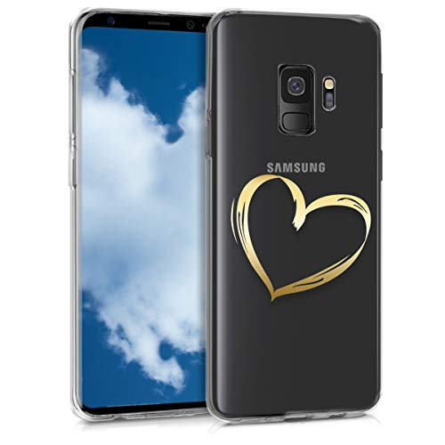 kwmobile Samsung Galaxy S9 Hülle - Handyhülle für Samsung Galaxy S9 - Handy Case in Gold Transparent