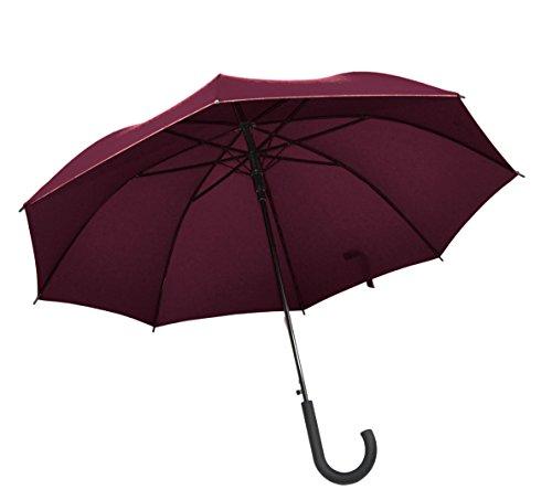 Womens Longs Kunst (Tom Tailor Regenschirm Stockschirm Schirm Lady Long Automatik rot)