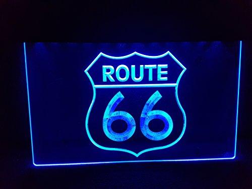 Route 66 Leuchtschild LED Neu Schild Laden Reklame Neon Neonschild USA