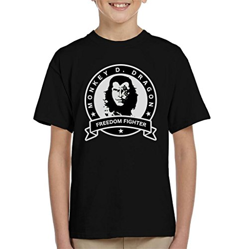 Cloud City 7 One Piece Monkey D Dragon Freedom Fighter Kid's T-Shirt -