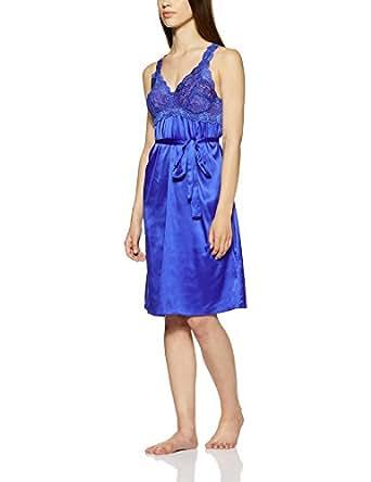 Enamor Women's Polyester Chemise (N005_Sapphire_S)