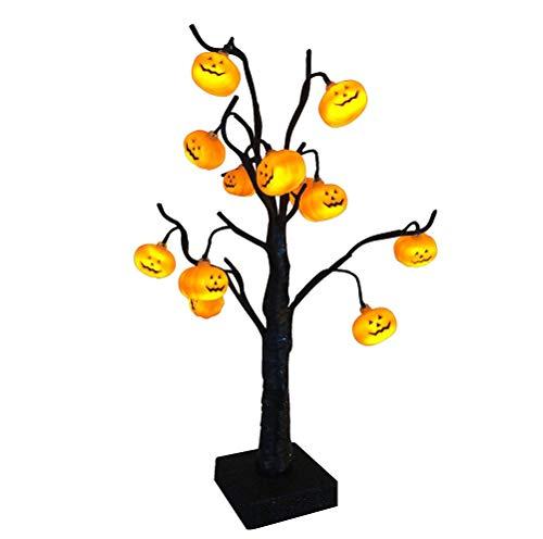 Kürbisbaum Enfei Halloween mit batteriebetriebener Innenpartei-Dekoration der orange Lichter im Freien