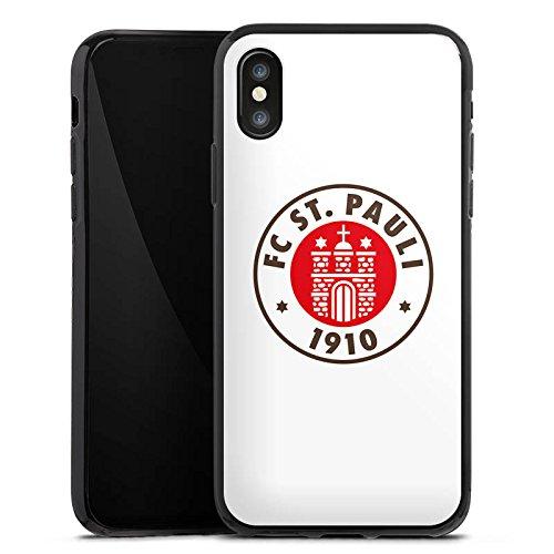 Apple iPhone 7 Hülle Case Handyhülle FC St. Pauli Fanartikel Fußball Silikon Case schwarz