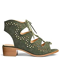 28a76f66e Simply Be Womens Sole Diva Ghillie Tie Sandals E Fit
