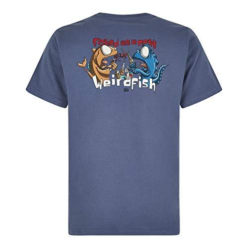 8009632c5 Weird Fish Fished As A Newt Artist T-Shirt Blue Indigo Size 2XL