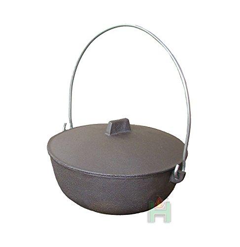 Tradehub Gulaschkessel Gulaschtopf Kochtopf für Feuer Feuerstelle Garten aus Gusseisen | Fassungsvermögen: 2,5 L