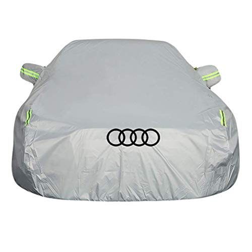 ShiBin Audi Car Cover Sedan Car Cover All Weather Seasons Anticongelante a prueba de lluvia, a prueba de lluvia, a prueba de lluvia, a prueba de polvo, al aire libre, protección contra rayos UV, Four