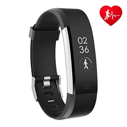 Fitness Armband HR, CAMTOA ID115Plus Fitness Tracker mit Pulsuhr,Smart Gesundheit Aktivitätstracker 0.96'' OLED Sport Armband - Herzfrequenz, Sport-Modus, GPS, Schrittzähler, Schlaftracker, SMS Anrufe, Remote Kamera für Android iOS Smartphone Smartwatch