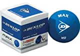 DUNLOP Squashbälle 3x blauer Ball 6% Größe / Anfänger
