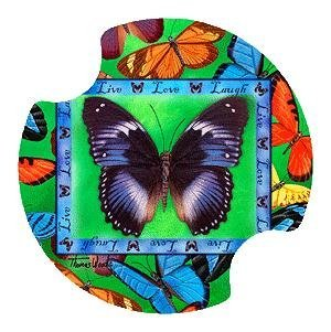 Butterflies Live-Love-Laugh Carsters - Coasters for Your Car by Thirstystone Carster Car Coaster